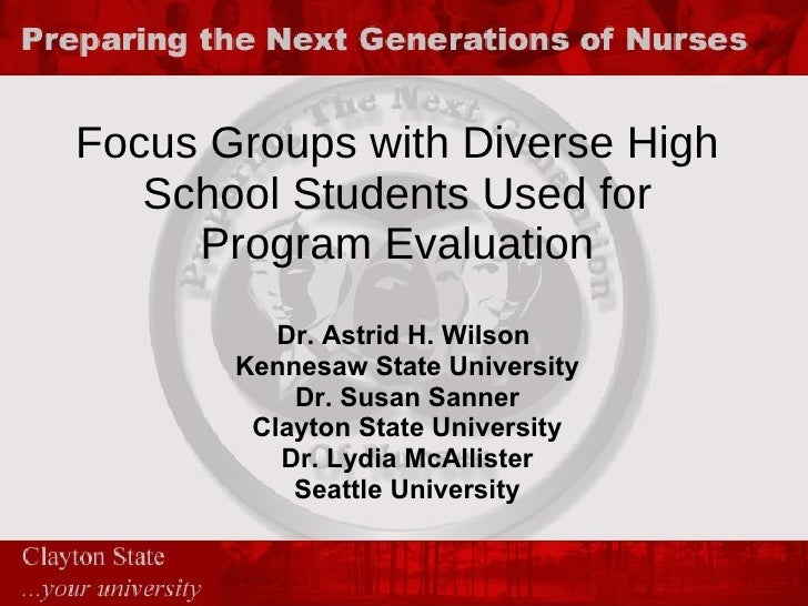 Focus Groups With Diverse High School Students Used For Program Evaluation