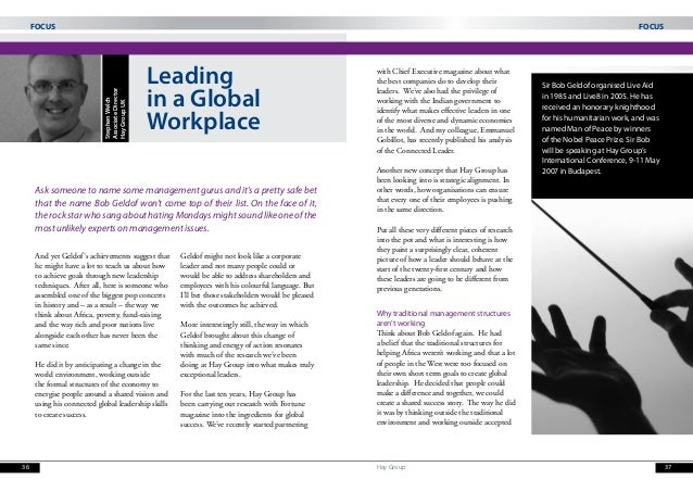 Leadership in a Global Workplace