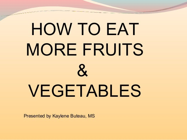 Focus on Fruits & Veggies Lunch & Learn