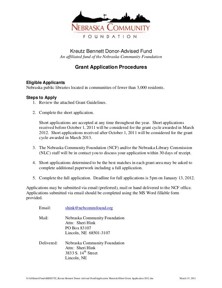 Focus on sustainability and advocacy - short grant application 2012 (White)
