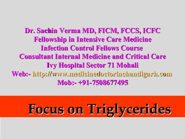 Focus on triglycerides