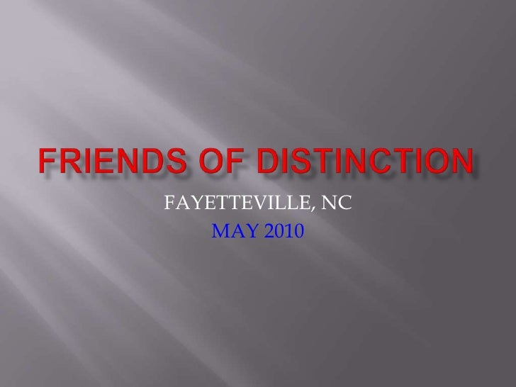 FRIENDS OF DISTINCTION FAYETTEVILLE, NC MAY 2010