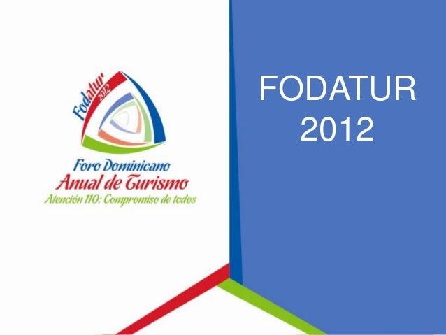 Presentación Lisette Gil - Fodatur 2012 - 1er Día