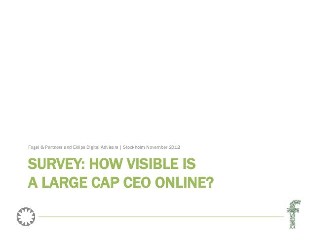 Survey: How visible is a large cap CEO online