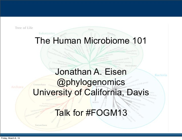 The Human Microbiome 101: talk Jonathan Eisen at #FOGM13