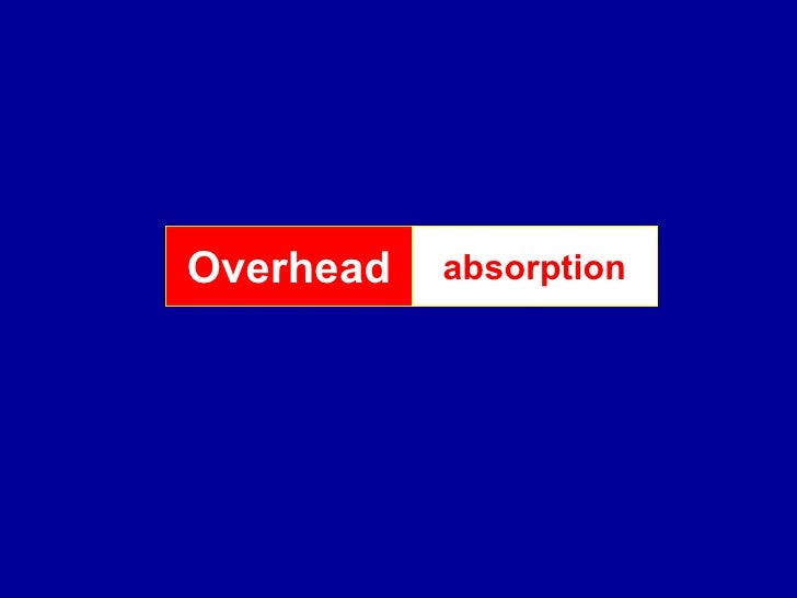 Absorption of Overhead: Meaning and Overhead Absorption Rates