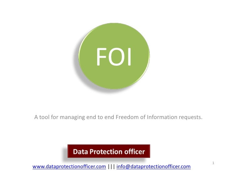 FOI A tool for managing end to end Freedom of Information requests.                                                       ...