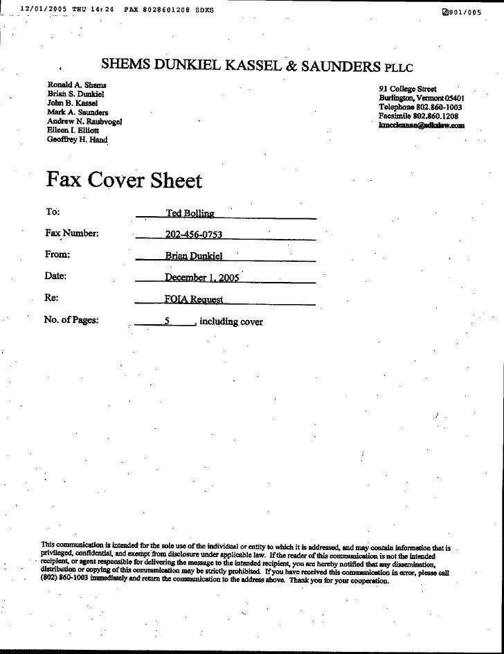 Greenpeace and Friends of the Earth FOIA Request 12.1.05