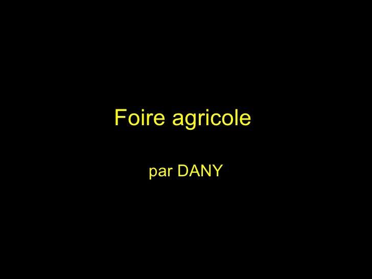 Foire agricole  par DANY