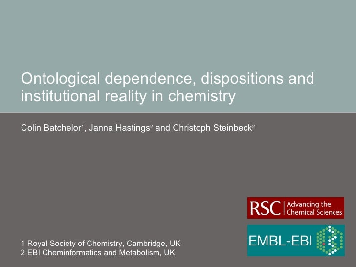Ontological dependence, dispositions and institutional reality in chemistry