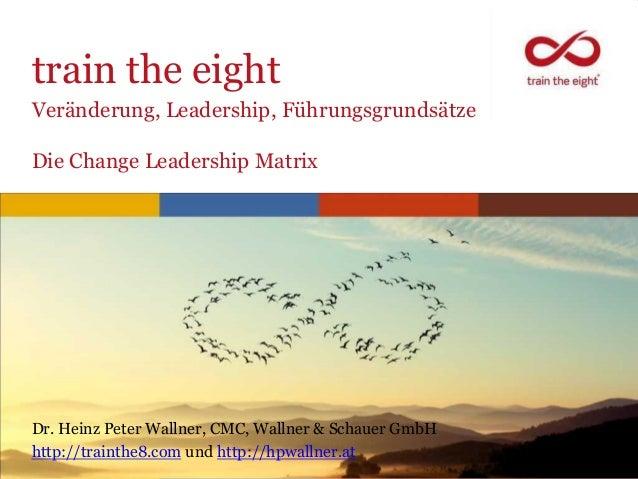 train the eightVeränderung, Leadership, FührungsgrundsätzeDie Change Leadership MatrixDr. Heinz Peter Wallner, CMC, Wallne...