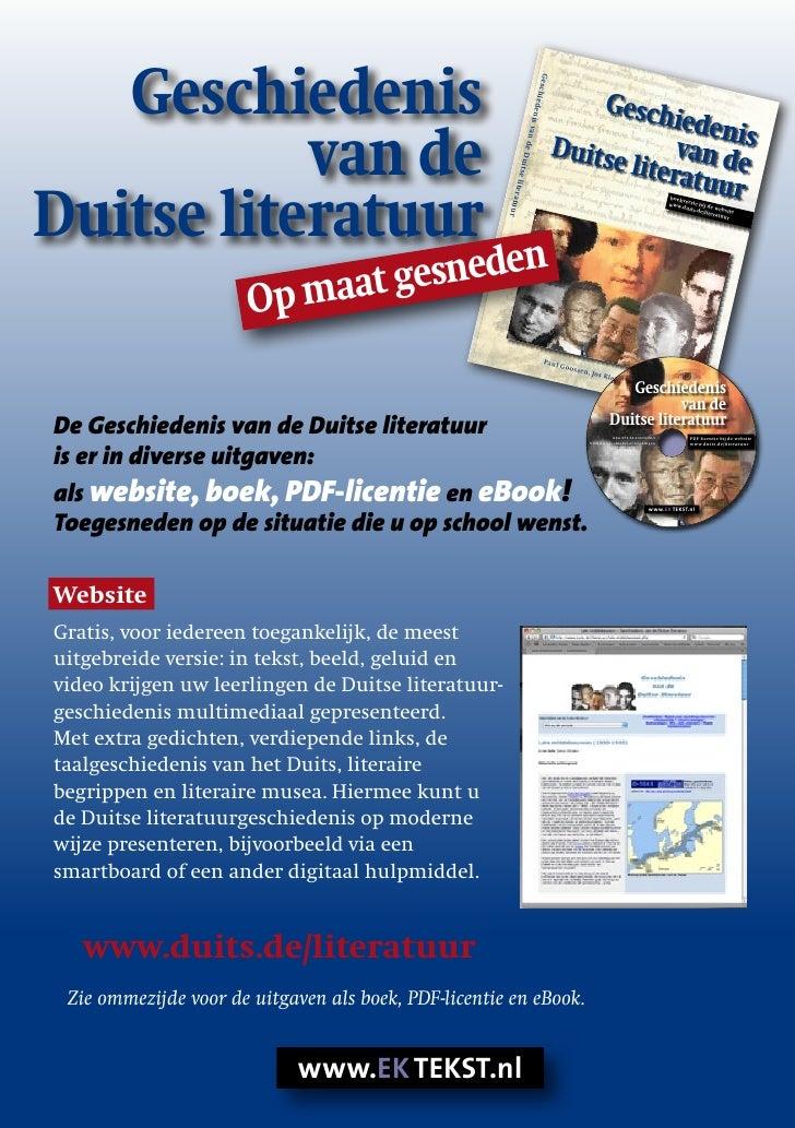 Folder geschiedenis van de Duitse literatuur