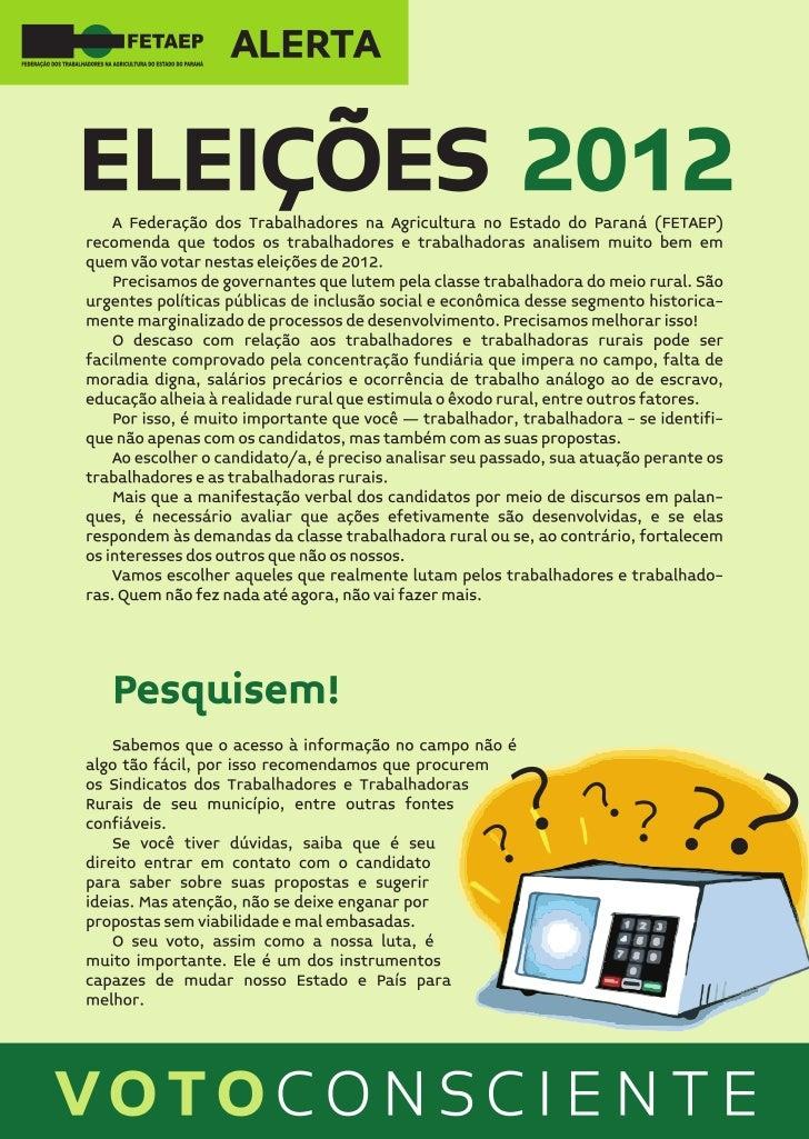 Folder Eleições Municipais 2012