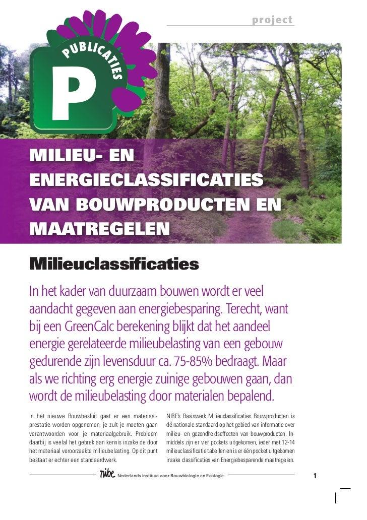 Folder Milieu En Energieclassificaties