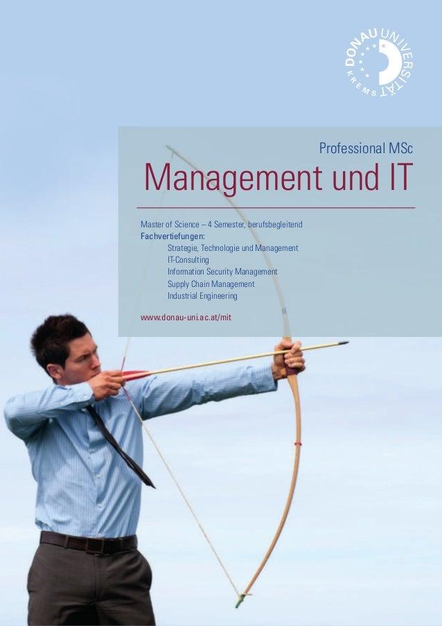 Folder Professional MSc Management und IT