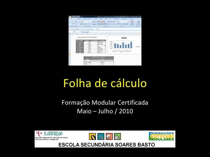 Folha de calculo