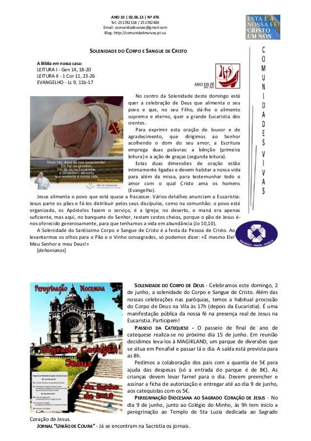 Folha Dominical - 02.06.13 Nº 476