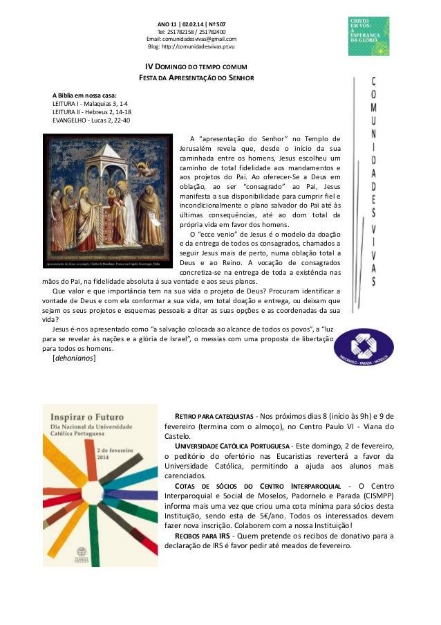 Folha Dominical - 02.02.14 Nº 507