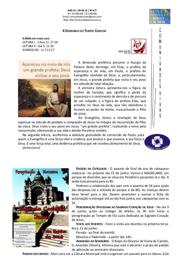 Folha dominical   09.06.13 nº 477