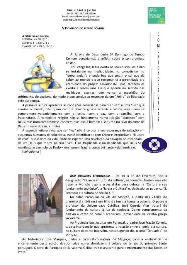Folha Dominical - 09.02.14 Nº 508