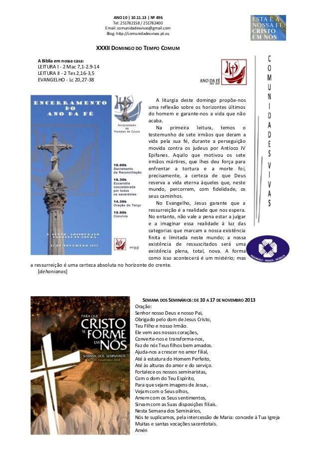 Folha Dominical - 10.11.13 Nº 496