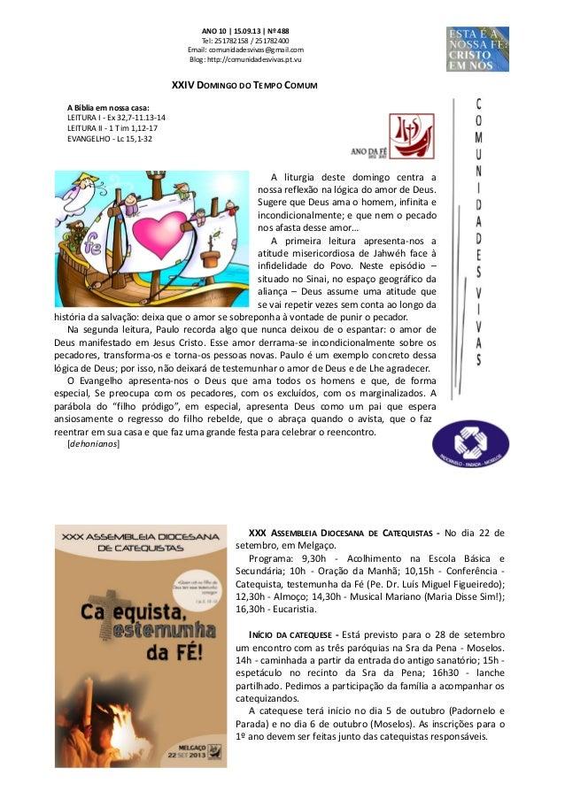Folha dominical   15.09.13 nº 488