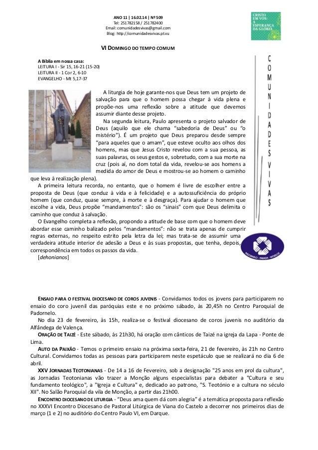 Folha Dominical - 16.02.14 Nº 509