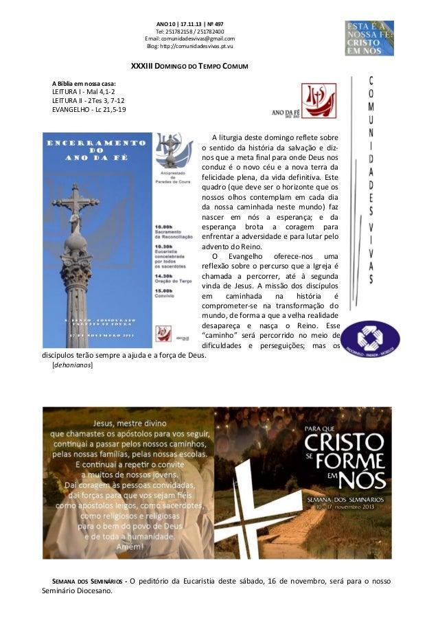 Folha Dominical - 17.11.13 Nº 497