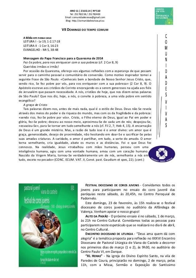 Folha Dominical - 23.02.14 Nº 510