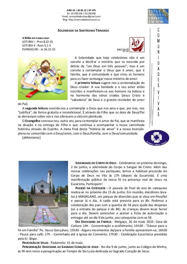 Folha dominical   26.05.13 nº 475