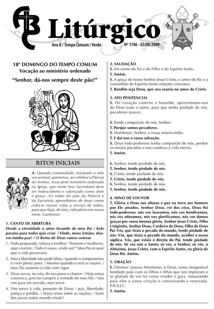 Folheto 1746 18º Dom Tc