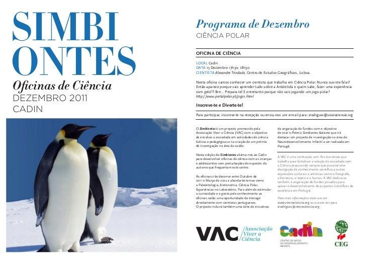 SIMBI                 Programa de Dezembro                      CIÊNCIA POLARONTES                      OFICINA DE CIÊNCIA...