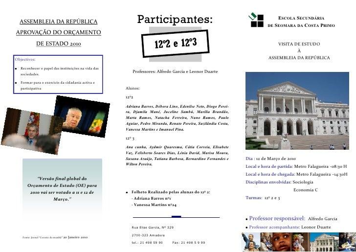 ASSEMBLEIA DA REPÚBLICA                                        Participantes:                                             ...