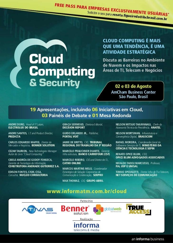 Cloud Computing & Security 2011