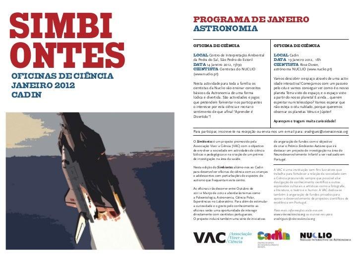 SIMBI                 PROGRAMA DE JANEIRO                      ASTRONOMIAONTES                      OFICINA DE CIÊNCIA    ...