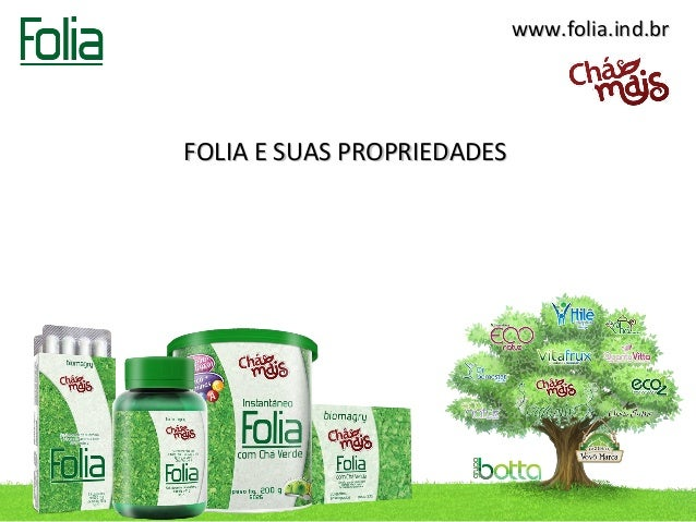 www.folia.ind.brFOLIA E SUAS PROPRIEDADES