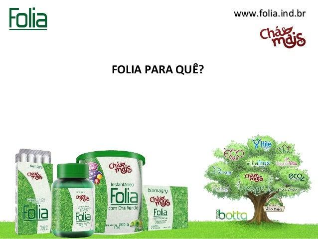 www.folia.ind.brFOLIA PARA QUÊ?