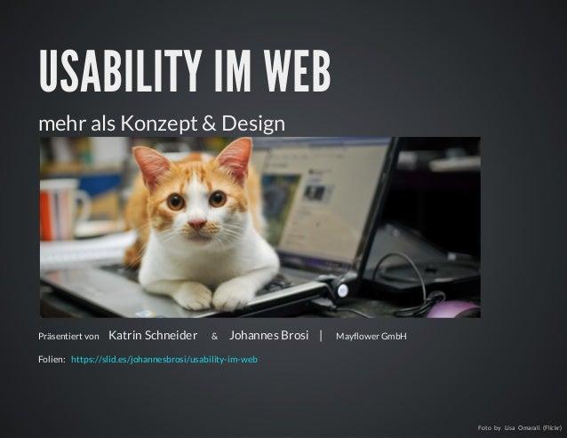 Usability im web