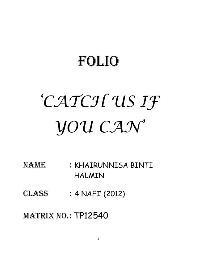 Folio catch us if you can