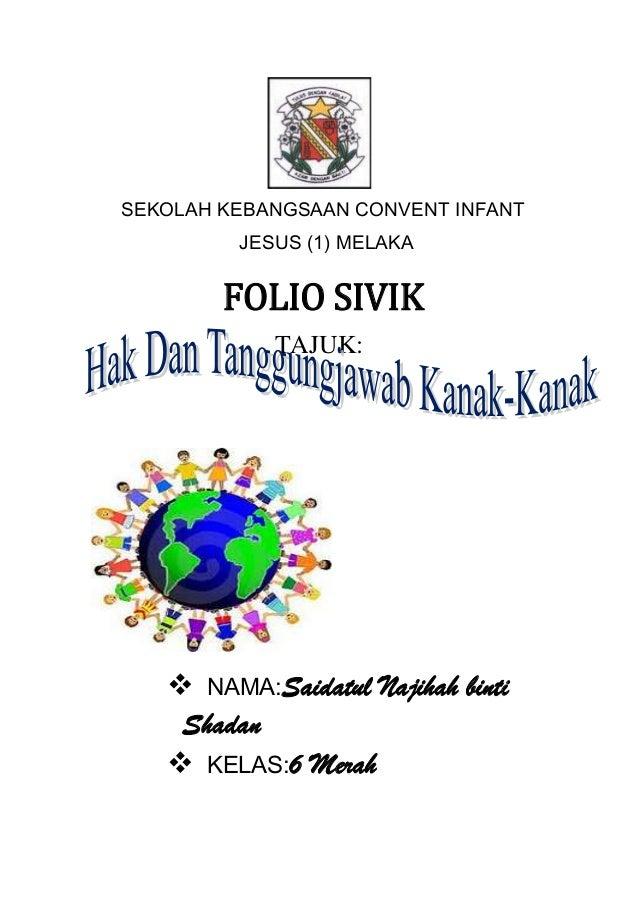 SEKOLAH KEBANGSAAN CONVENT INFANT         JESUS (1) MELAKA        FOLIO SIVIK            TAJUK:    NAMA:Saidatul Najihah ...