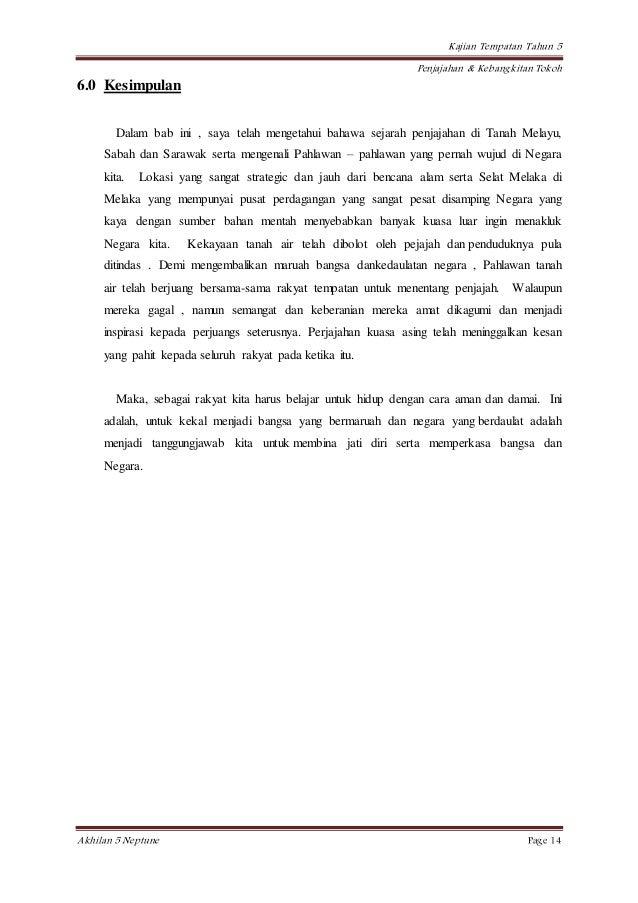 Contoh Folio Sejarah Tahun 5 Tracy Notes