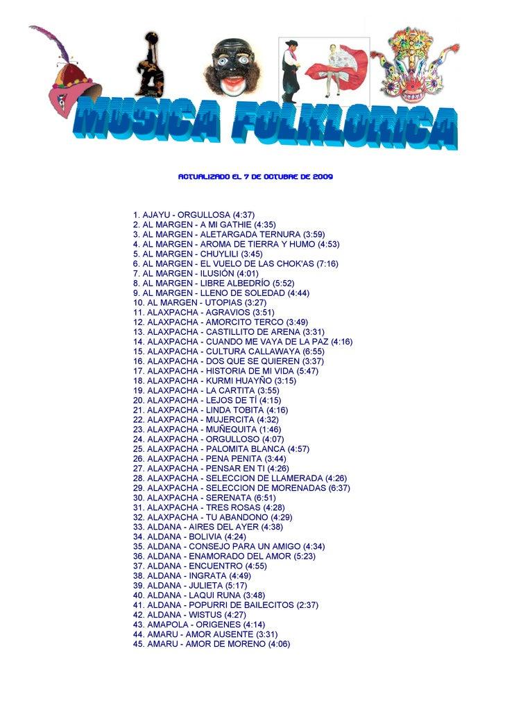 FOLKLORICOS OCTUBRE 2009