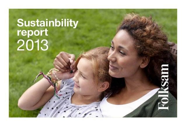 Folksam - Sustainability report 2013