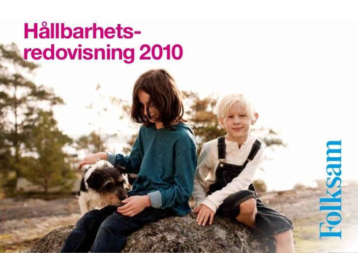 Hållbarhets-redovisning 2010