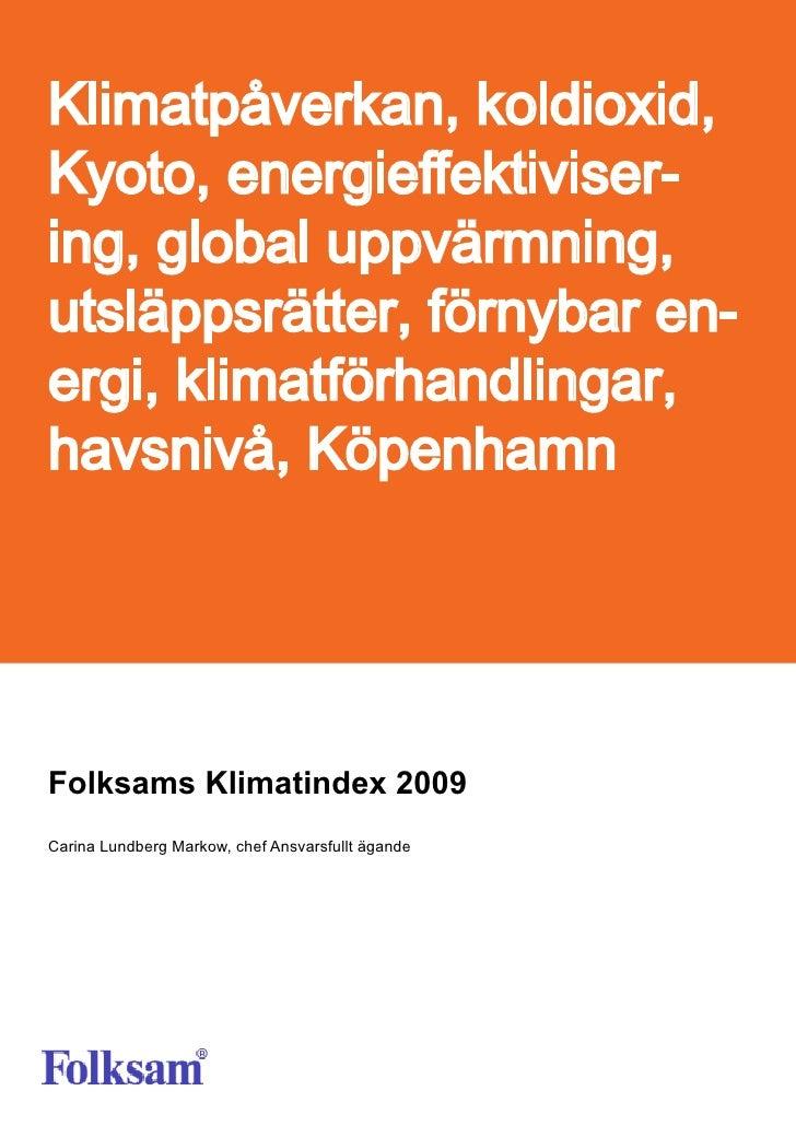 Folksams Klimatindex 2009