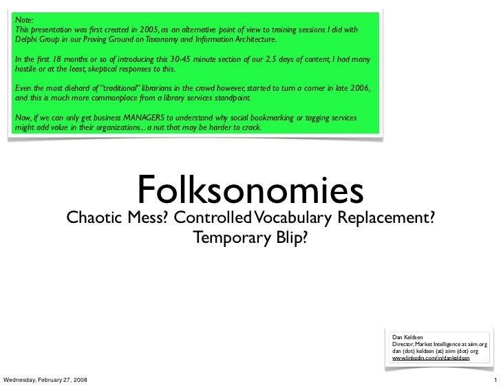 Note:    This presentation was first created in 2005, as an alternative point of view to training sessions I did with    De...