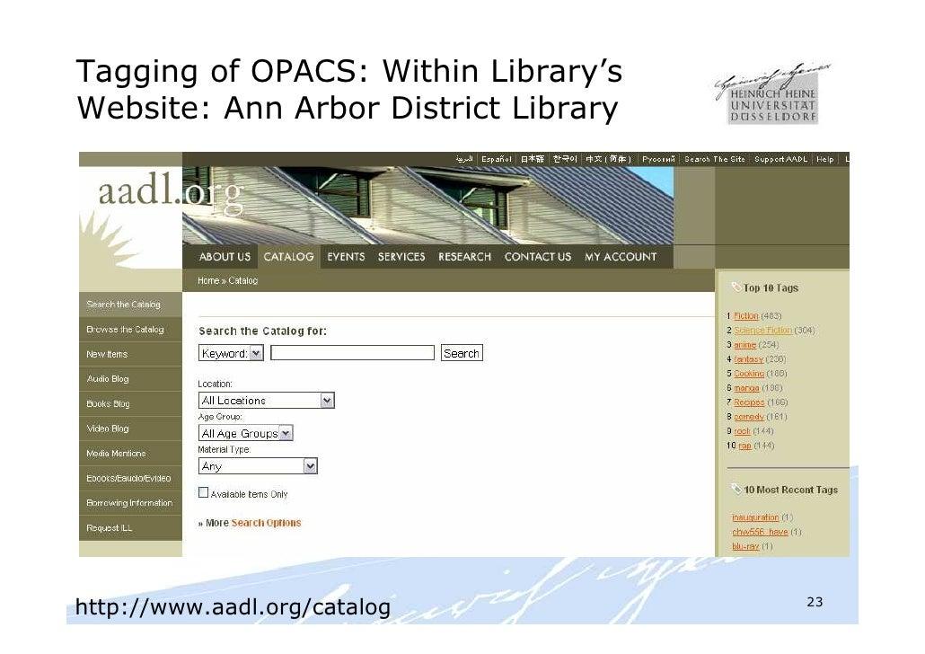 Folksonomies Indexing Und Retrieval In Bibliotheken