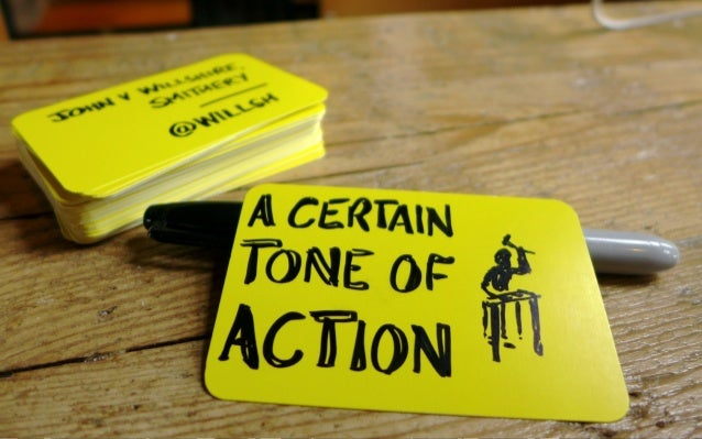 A Certain Tone of Action - Folksy Summer School August 2013