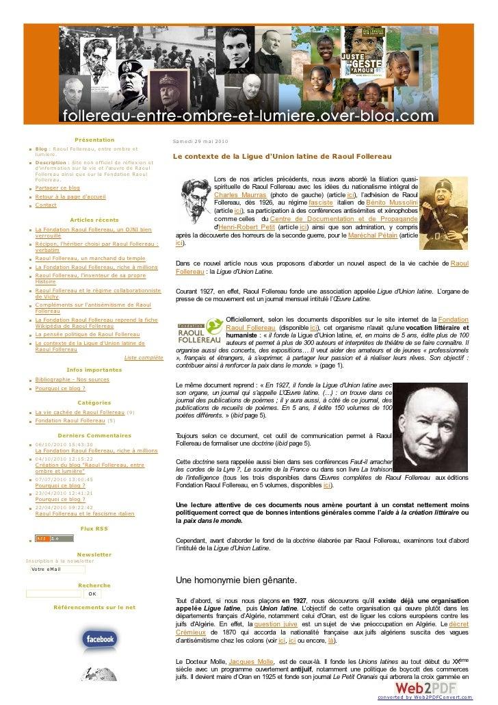 Raoul Follereau et la Ligue d'Union Latine
