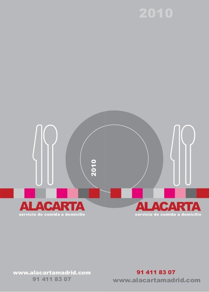 Folleto alacarta-2010